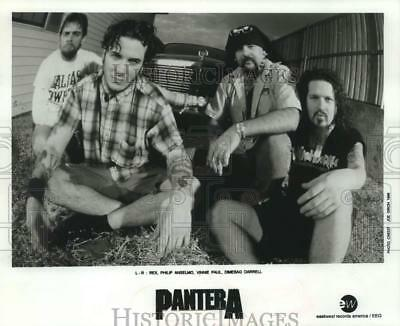 1996 Press Photo Musical Group, Pantera with Dimebag Darrell and Vinnie Paul