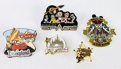 Lot of 5 Disneyland Disney World Attractions Trading Pins 30 Years Frontierland