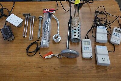 Lot of Immersion Heaters / Bucket Heaters Safe Hete - with Digital Controllers