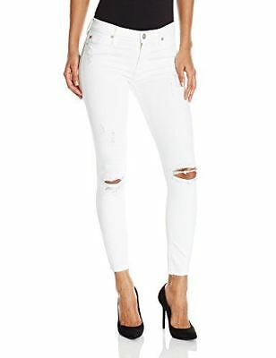 d171b0a4c34 $168 Nwt New Women's Hudson Jeans White Nico Super Skinny Ankle Jeans Size  32