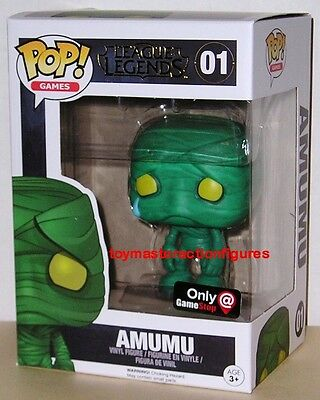 FUNKO POP 2016 GAMES LEAGUE OF LEGENDS AMUMU #01 GAMESTOP MINT BOX In Stock