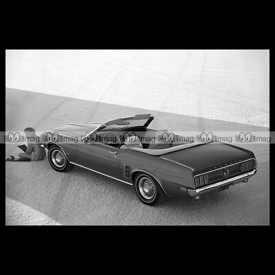 #pha.003609 Photo FORD MUSTANG 351 CONVERTIBLE 1969 Car Auto
