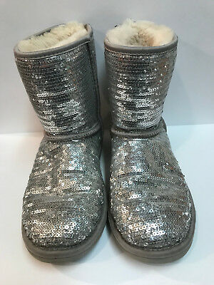 9e0c7f1aaf3 AUTHENTIC UGGS CLASSIC Short Sequins #3161 sparkle green Boots ...