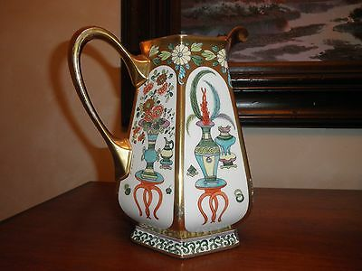 Pickard China Beautiful Vintage Hand Painted Signed Pitcher // Very SCARCE