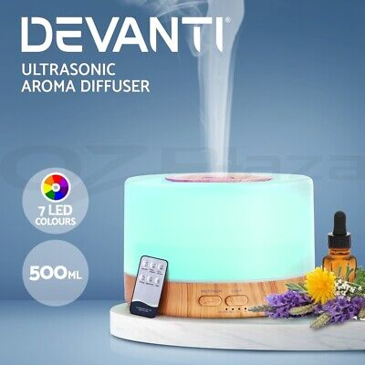DEVANTI Aroma Diffuser Aromatherapy LED Essential Oil Air Humidifier Purifier