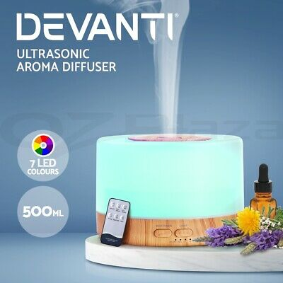 Devanti Ultrasonic Aroma Diffuser Aromatherapy LED Essential Oil Air Humidifier