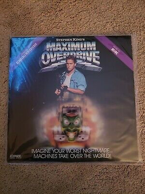 Stephen Kings Maximum Overdrive very rare  laserdisc, Movie Soundtrack by ACDC.