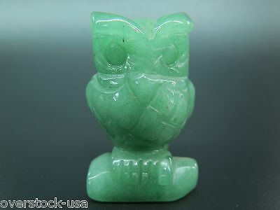 NEW 52mm Natural Chinese Dongling Jade Carved Owl Statue