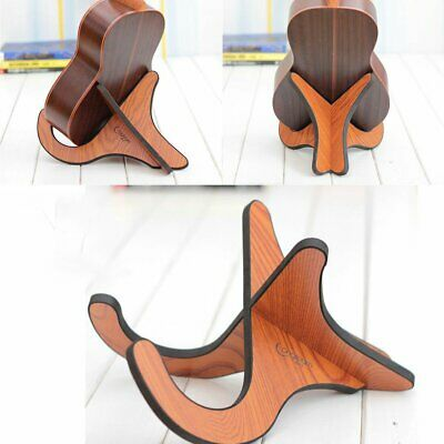 Foldable Longteam Wooden Floor Stand Holder for Electric Acoustic Guitar Bass L3
