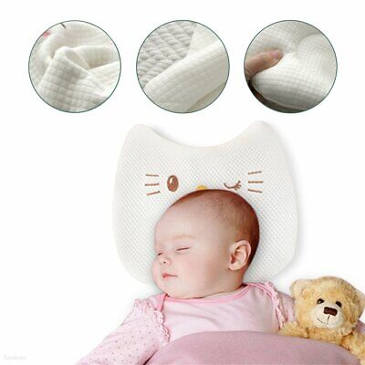 Baby Cot Soft Pillow Prevent Flat Head Memory Foam Cushion Sleeping Support  23
