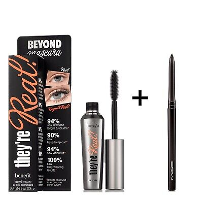 eeea7c5d836 AUTHENTIC!! BENEFIT THEY'RE Real BLACK Mascara Full Size .3 oz Brand ...