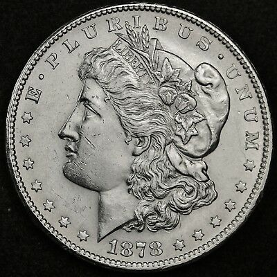 1878-s Morgan Silver Dollar.  B.U.  123415