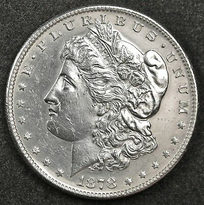 1878-s Morgan Silver Dollar.  Proof-Like Obverse.  B.U. Detail.  122560