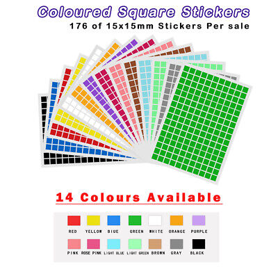 153 x 75mm Coloured DOT STICKERS Round Sticky Adhesive Spot Paper Labels Ci J0M8