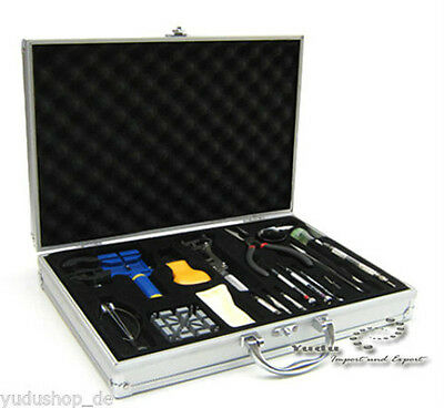 20 Piece Watchmaker's Tool Watch Tools in Aluminum Suitcase