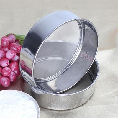 UK Stainless Steel Flour Sifting Sifter Sieve Strainer Baking Cake Kitchen LOCA