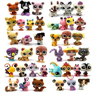 Random Pick Lot 7 Pcs Littlest pet shop Children GIFT LPS Figures Toys Gifts UK