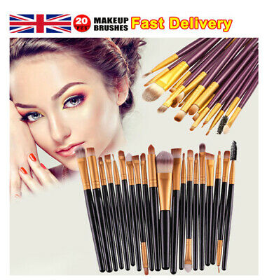 20PCS/Set Make Up Brushes Eyeshadow Eyeliner Lip Powder Foundation Blusher Tools