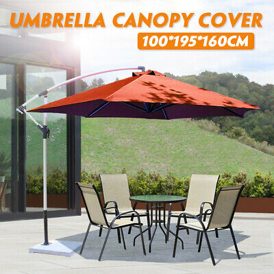 6.5ft Patio Umbrella Replacement Canopy Parasol Top Cover Fabric Garden Outdoor