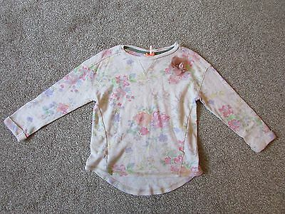 Next girls 5 years thin pretty floral jumper top with flower - Very good con