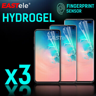 3x EASTele Samsung Galaxy S10 S9 S8 Plus Note 9 HYDROGEL AQUA Screen Protector