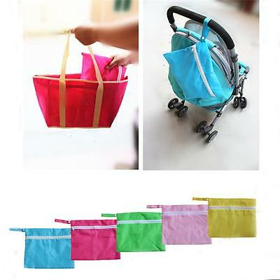 Waterproof Reusable Nappy Wet Changing Bag Baby Kid Swim Dirty Clothes Travel FG