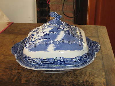 Early To Mid 19Th Century Blue & White Tureen & Cover