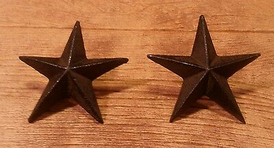 """Cast Iron Star Nails Large 3 1/2"""" Wide (Set of Two) Home Decor 0170-02110"""