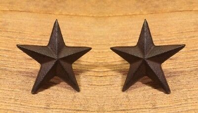 """Texas Star Nails Medium Cast Iron Western 2 3/4"""" wide (Set of Two) 0170-02112"""