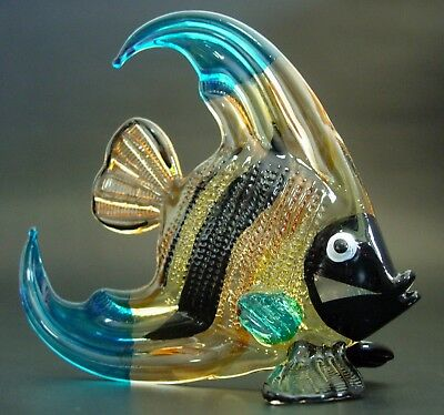 Curio Display LARGE Glass FISH Painted Glass Animal Blown Glass Ornament Gift