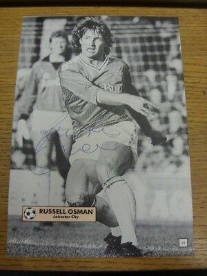 1986/1987 Autographed Magazine Picture: Leicester City - Osman, Russell. Bobfran