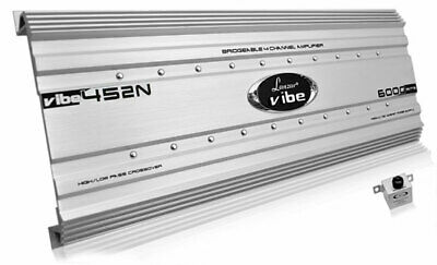 Lanzar VIBE452N Vibe 6000 Watts 4 Channel Mosfet Car Speakers Sub Amplifier