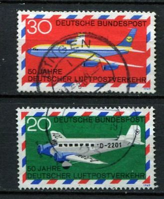 Germany - BRD : Airmail Service anniv. Set from 1969 - used