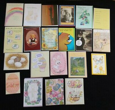 Lot of 21 Easter & Birthday Greeting Cards Unused w/Envelopes