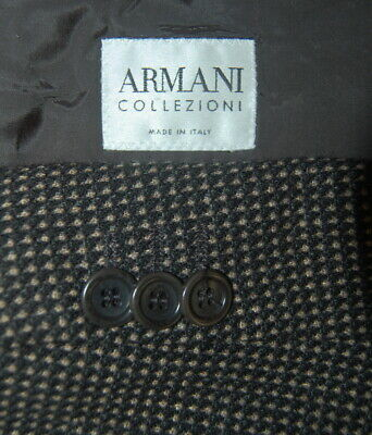 a3ff269b MENS 44 R Armani Collezioni Brown Pin Dot Wool Sport Jacket Made Italy