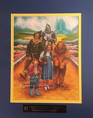 Wizard of Oz Photo Signed by Original Cast Member Mickey Carroll Muchkin Love