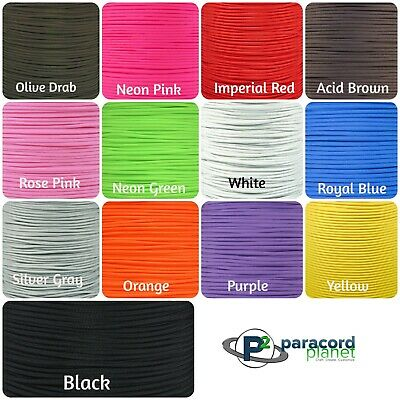 550 Paracord Parachute Cord Lanyard Mil Spec Type III 7 Strand Core 100 50 25 FT