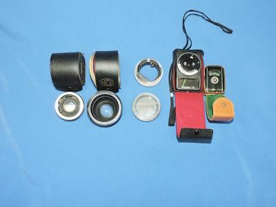 Camera Lens Filter Lot HCE Vari Close Up Vivitar Automatic Tele Converter Meters