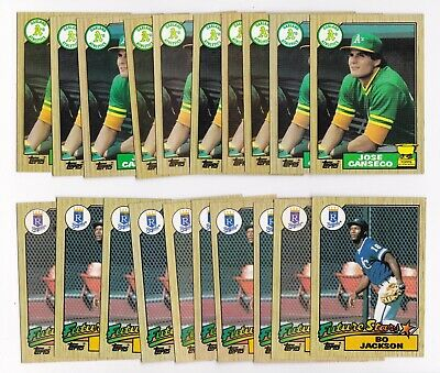 1987 Topps 30 Cards U Pick Choose Lots Rookies Stars  Canseco  Puckett+++