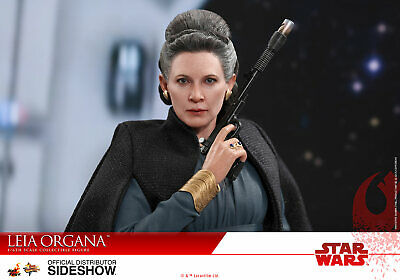 Hot Toys Leia Organa Star Wars The Last Jedi 1/6 Scale Figure Carrie Fisher New