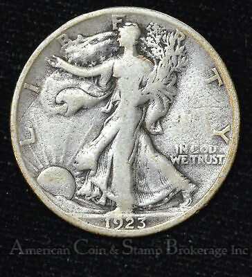 50c Cent 1/2 Half Dollar 1923 S Walking Liberty Silver 50 Cent