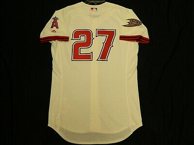 12d3a6191 Authentic Mike Trout Anaheim Angels DUCKS Limited Edition Jersey HOT ITEM!  48