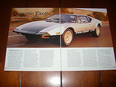 1973 De TOMASO PANTERA GTS -  2004 Original Article
