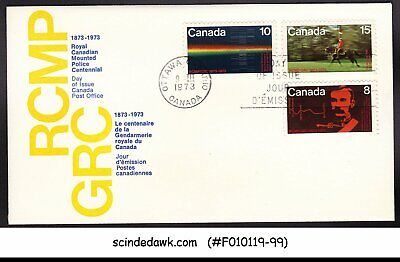 Canada - 1973 Royal Canadian Mounted Police Centennial - Fdc
