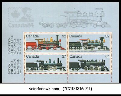 Canada - 1984 National Philatelic Exhibition / Railway Trains - Min/Sht Mnh