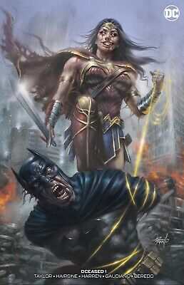 Dceased 1 Parrillo Virgin Set Batman Wonder Woman Ltd To 750 W/ Coa - Preorder