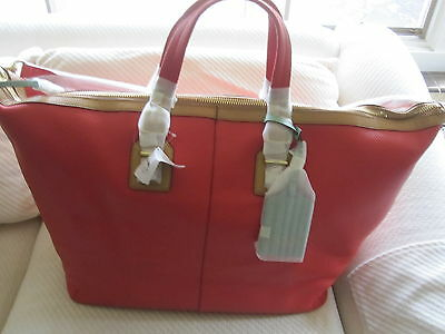 NWT Authentic Coach Soft Legacy Pebbled Leather Travel Bag -25308- $798