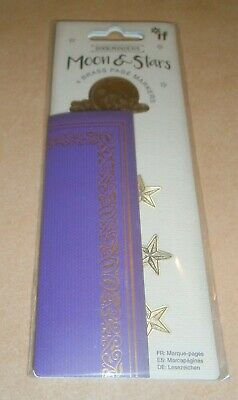IF Book Minders 4 Brass Page Markers - Moon & Stars