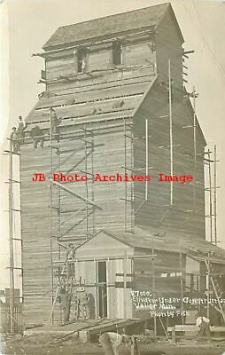 Mt Valier Montana Rppc Elevator Under Construction Fish Photo