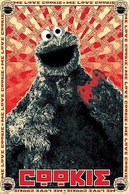 SESAME STREET ~ COOKIE MONSTER ME LOVE 24x36 POSTER Muppets NEW/ROLLED